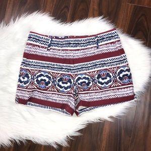 Ann Taylor LOFT Riveria Striped Printed Shorts